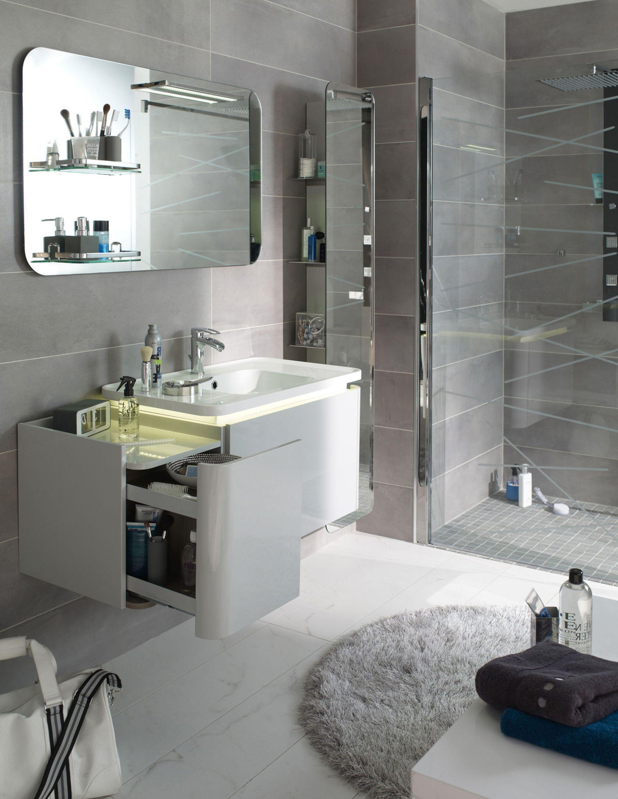 Tout Pour La Salle De Bain meuble salle de bain : pratique de disposer d'un rangement